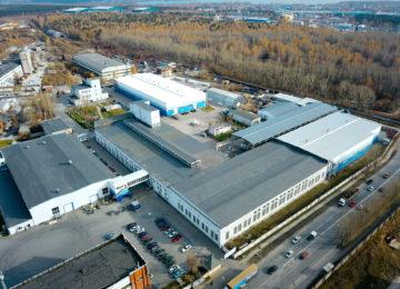Площади завода Спецремстрой Екатеринбург.